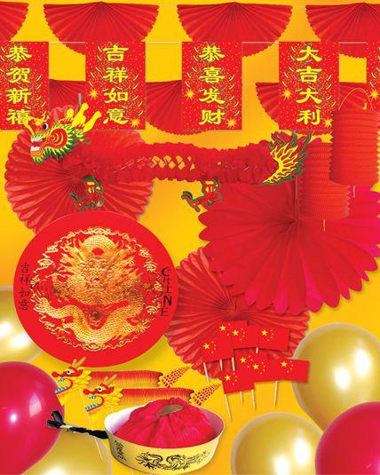 kit nouvel an chinois d corations drapeaux et d co pays le. Black Bedroom Furniture Sets. Home Design Ideas
