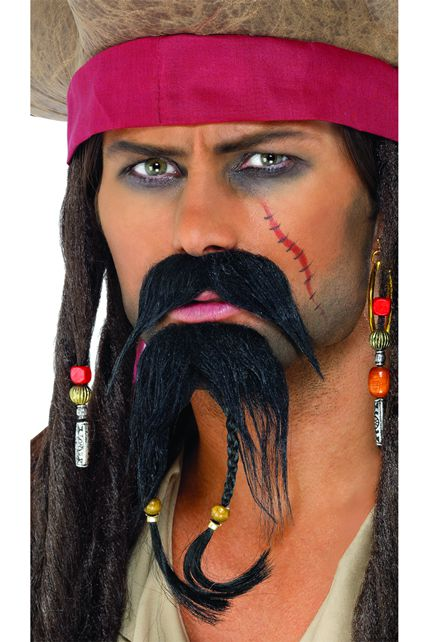 Set moustache pirate maquillage le - Maquillage pirate homme ...