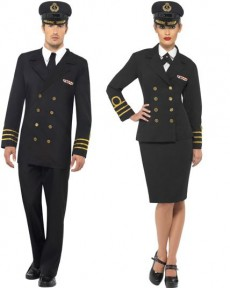 Couple Officier Marin costume