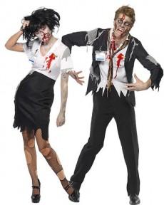 couple zombie bureau deguisement adulte en couple le. Black Bedroom Furniture Sets. Home Design Ideas