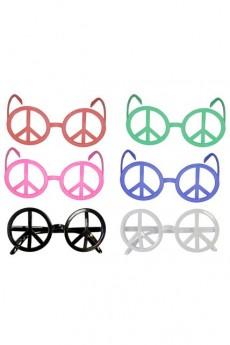 1d824bc96c lunettes peace and love couleurs assorties Le Deguisement.com