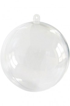 boule noel transparente a remplir diametre 8 cm pvc le. Black Bedroom Furniture Sets. Home Design Ideas