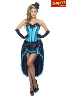 Danseuse Burlesque Bleu costume