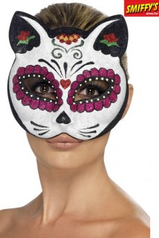 masque chat sugar skull loup et masque de carnaval le. Black Bedroom Furniture Sets. Home Design Ideas