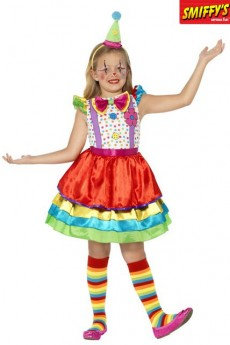 Déguisement Fille Luxe Clown costume