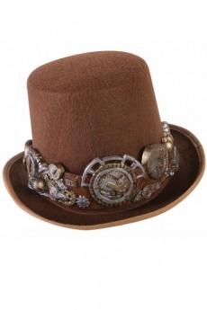 Haut de forme marron steampunk de luxe chapeau melon haut de forme le - Steampunk style vestimentaire ...