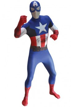 Seconde Peau Morphsuit Luxe Captain America costume