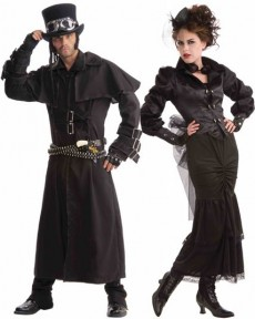 Couple Victorien Steampunk costume