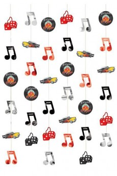 Lot De 6 Guirlandes Rock And Roll accessoire