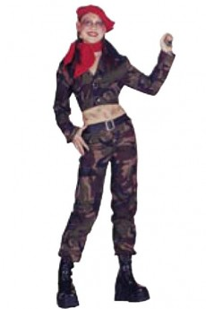 Costume Camouflage Femme costume