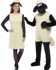 Couple Shaun The Sheep costume