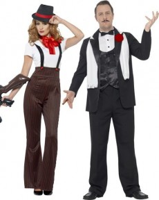 Couple Gangster Grande Taille costume