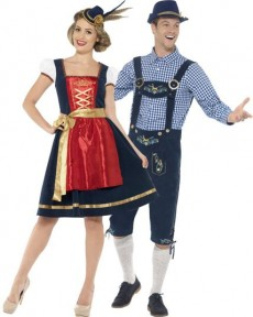 Couple Traditionnel Bavarois Luxe costume