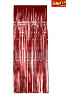 rideau miroir m tallique rouge d corations no l le. Black Bedroom Furniture Sets. Home Design Ideas