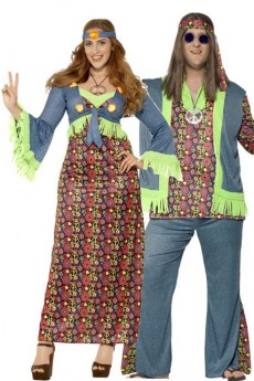Déguisements Couple Hippie Galbé costume