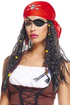 perruque pirate femme avec bandeau perruques femmes le. Black Bedroom Furniture Sets. Home Design Ideas