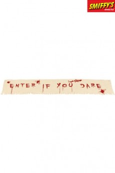 Banderole Sanglante Enter If You Dare accessoire