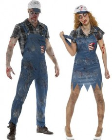 Couple Fermier Zombie costume