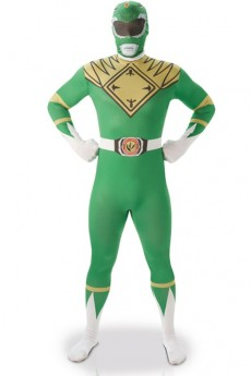 Seconde Peau Power Rangers Vert costume