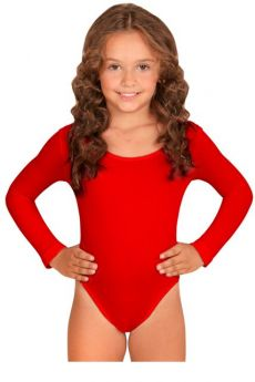 Body Enfant Manches Longues Rouge costume