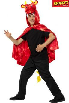 Cape Enfant De Dragon Rouge Et Jaune costume