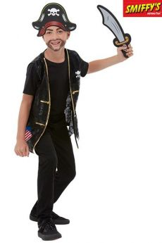 Set De Pirate Noir Enfant costume
