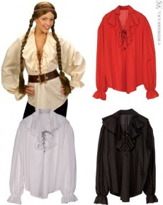 Blanc Pirate Blouse Adulte Femme Costume shirt