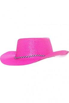 chapeau cowgirl fushia chapeau cowboy sombrero paille le. Black Bedroom Furniture Sets. Home Design Ideas