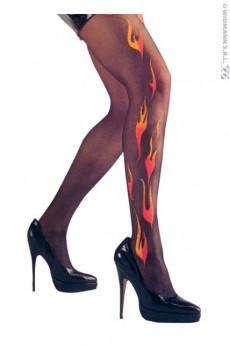 Collant d cor flammes accessoires gants bas collants for Collant mural francais