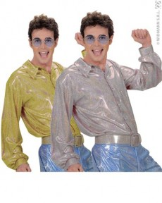 Chemise Disco Hologramme costume