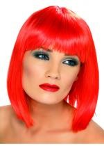 Perruque Glam Rouge Fluo