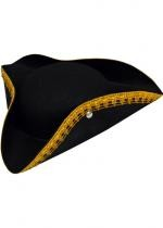 Tricorne Noir Galon Pirate