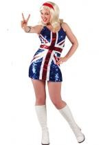 Tenue Paillettes Miss Uk