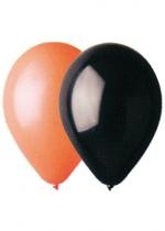 Sac De 50 Ballons Orange Noir