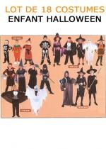 Lot De 18 Costumes Enfant Halloween