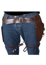 Ceinture Double Holster Marron