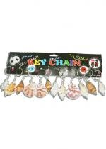 Lot De 12 Porte Clefs Coquillages