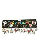 Lot De 12 Porte Clefs Tête De Pirate