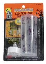 Bougie Led Avec Bougeoir Halloween Assortie