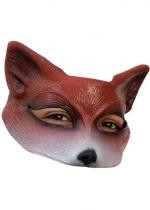 Demi Masque Renard En Latex Adulte