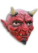 Masque Diable Effrayant En Latex Rouge Adulte