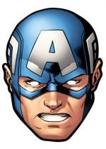 Masque Carton Adulte Captain America
