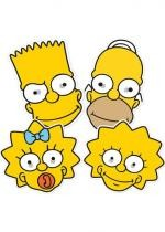 4 Masques Homer Bart Lisa Maggie Les Simpson