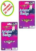 Badge Aviateur Argent