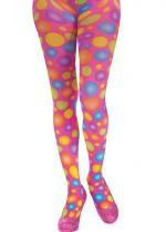Collants Roses A Pois Multicolores