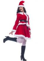 Costume Miss Santa Fancy Velours