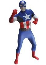 Seconde Peau Morphsuit Luxe Captain America
