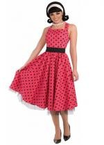 Robe Années 50 A Pois Rouge