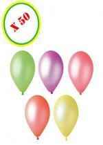 Sachet De 50 Ballons Fluorescents Couleur