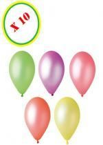 Sachet De 10 Ballons Fluorescents Couleur